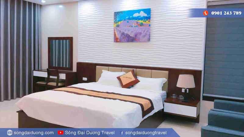 Phòng ngủ Mater rộng 40m2 vủa Biệt Thự Ngọc Trai NT36 (Sóng Đại Dương Villa)