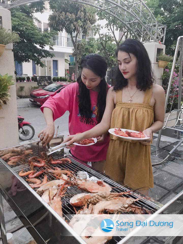Tiệc nước BBQ hải sạn tại Biệt thự FLC Sầm Sơn