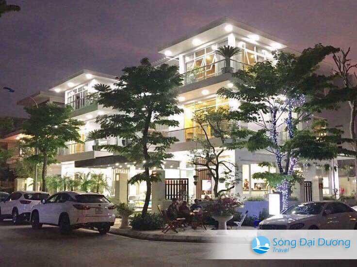 Khu biệt thự FLC Sầm Sơn sáng lung linh về đêm