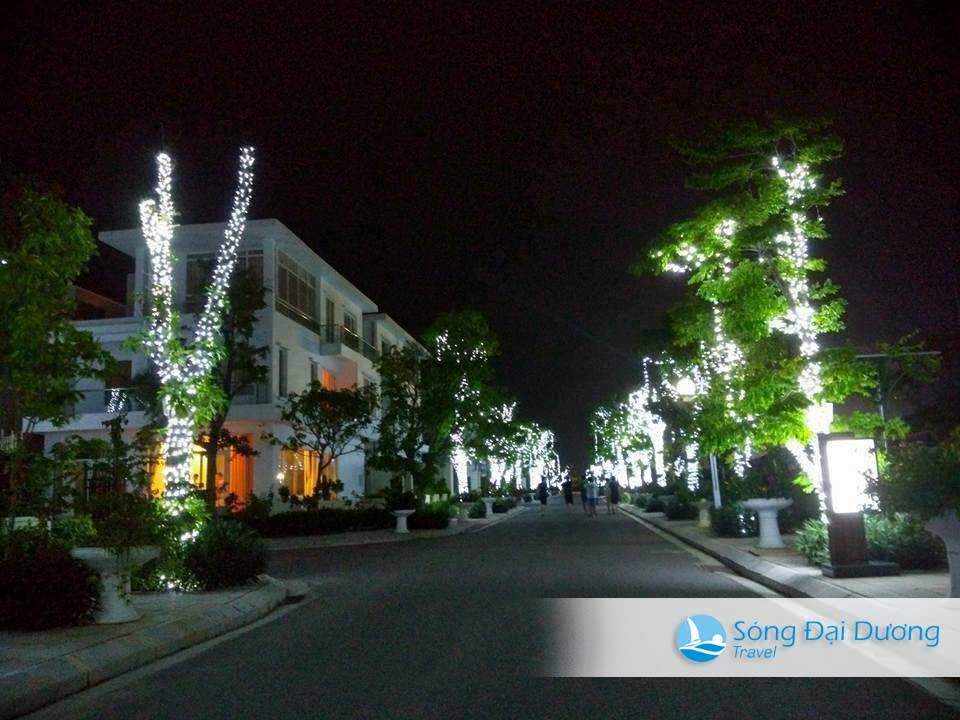 Khu biệt thự FLC Sầm Sơn lung linh ban đêm