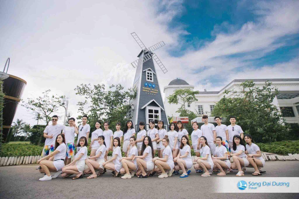 cối xay gió sân flc Sầm Sơn