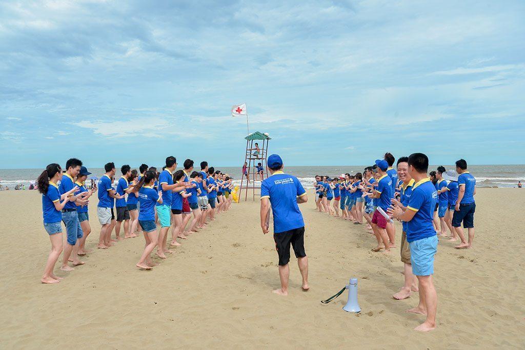 team building trên biển sầm sơn