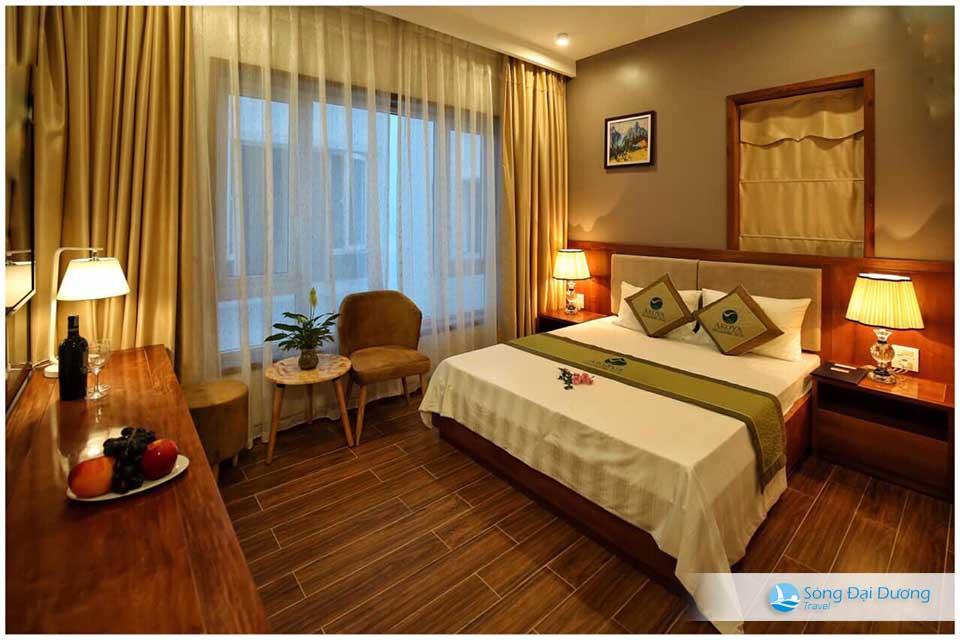 Phòng ngủ rộng với thiết kế không gian hiện đại - sang trọng