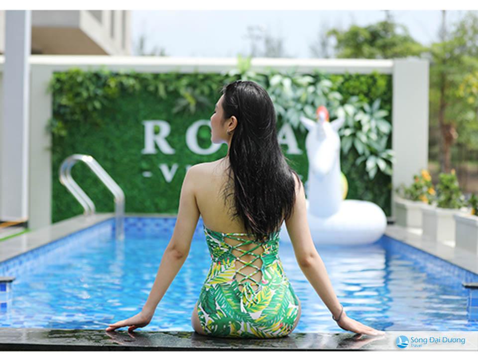 rosa villa bể bơi Marron Villa FLC Sầm Sơn 7 phòng ngủ