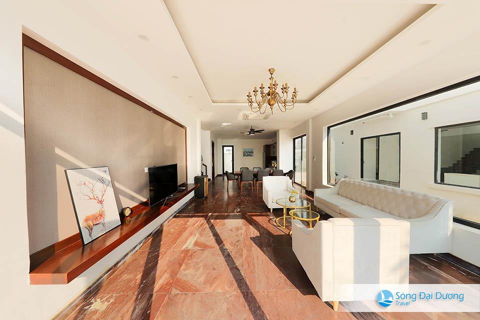 Phòng khách rộng với đầy đủ trang thiết bị tiện dụng - Marron Villa FLC Sầm Sơn 10 phòng ngủ