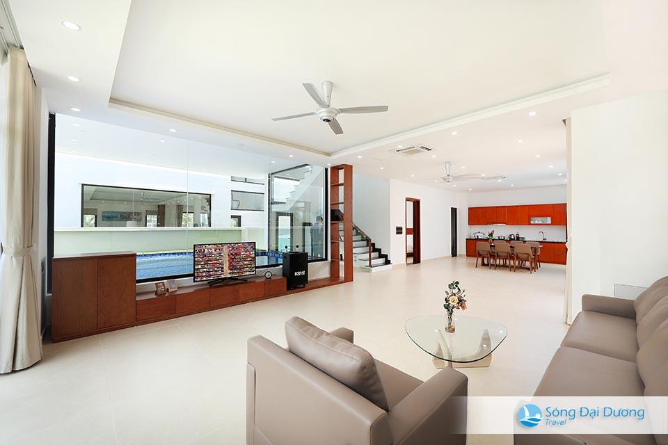 Marron Villa FLC Sầm Sơn 7 phòng ngủ - phòng khách