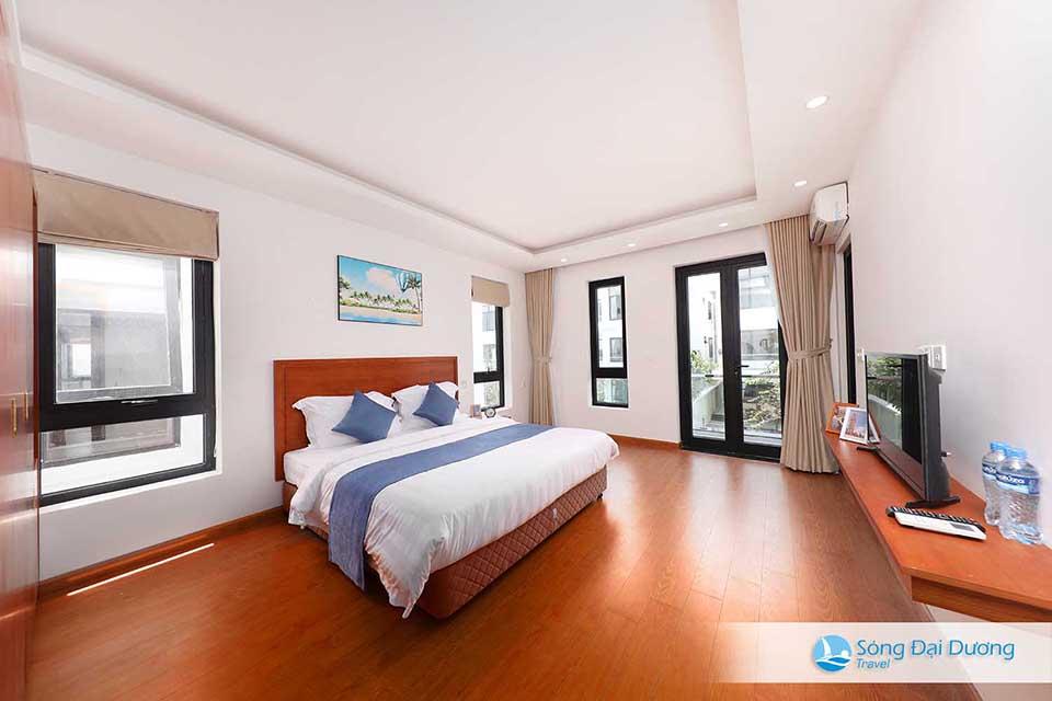 Phòng ngủ rộng với thiết kế sang trọng