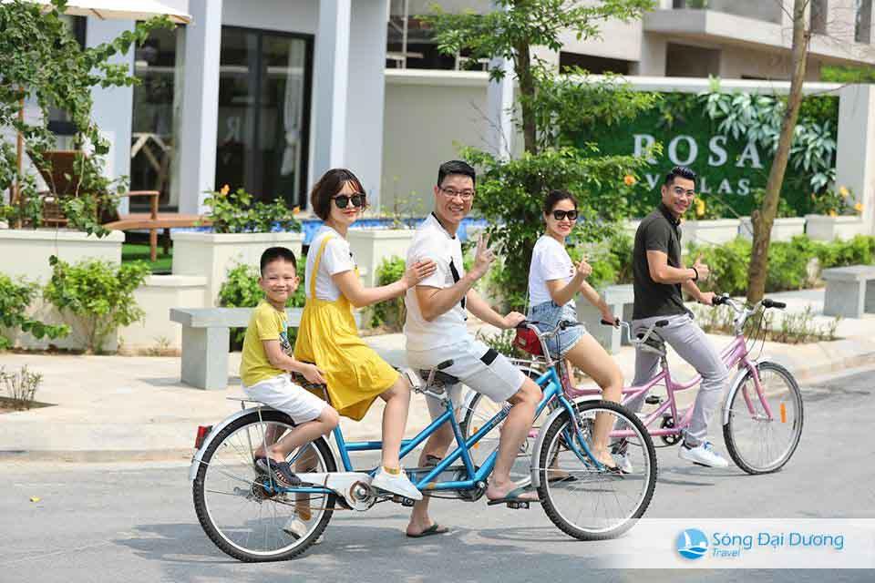Xe đạp tham quan khu quần thể