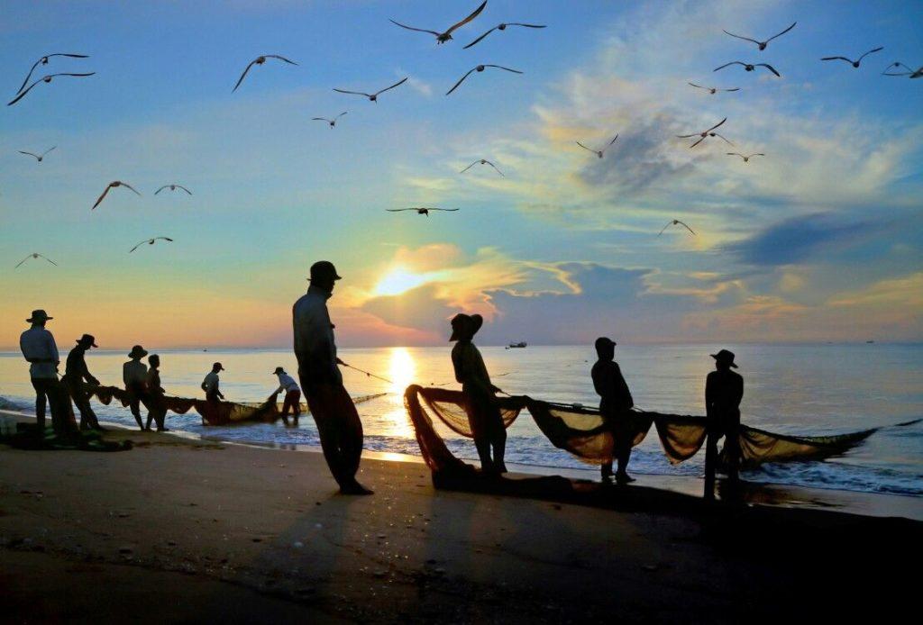 Kéo cá trên biển
