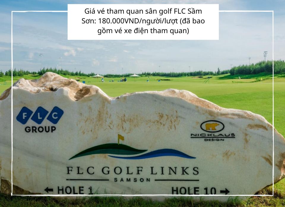 Giá vé thăm quan sân golf