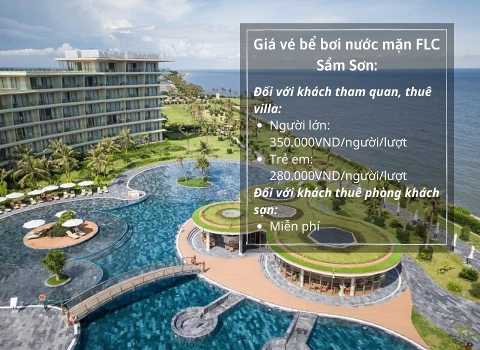 Giá vé bể bơi nước mặn FLC Sầm Sơn