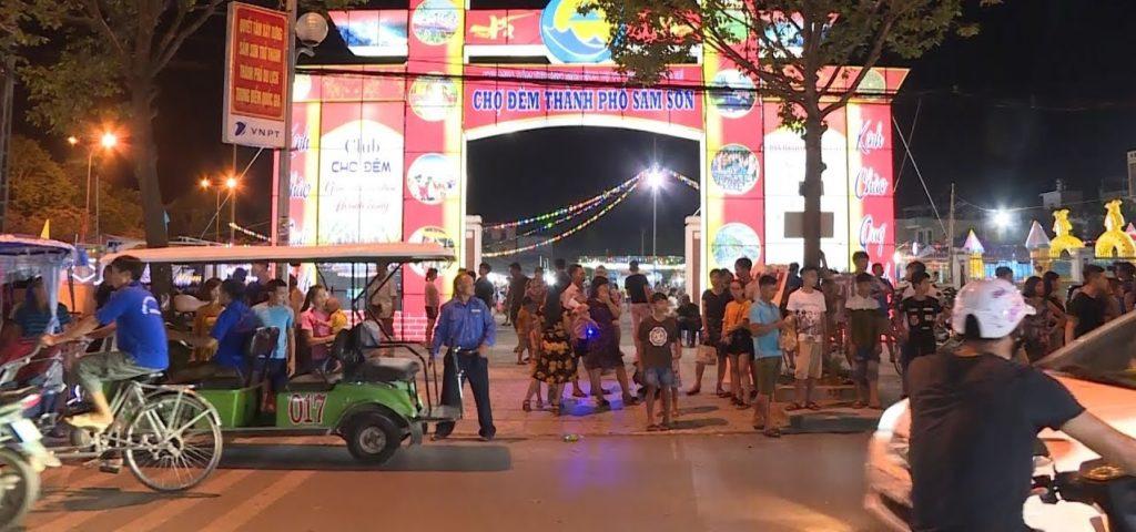 cổng chợ đêm sầm sơn