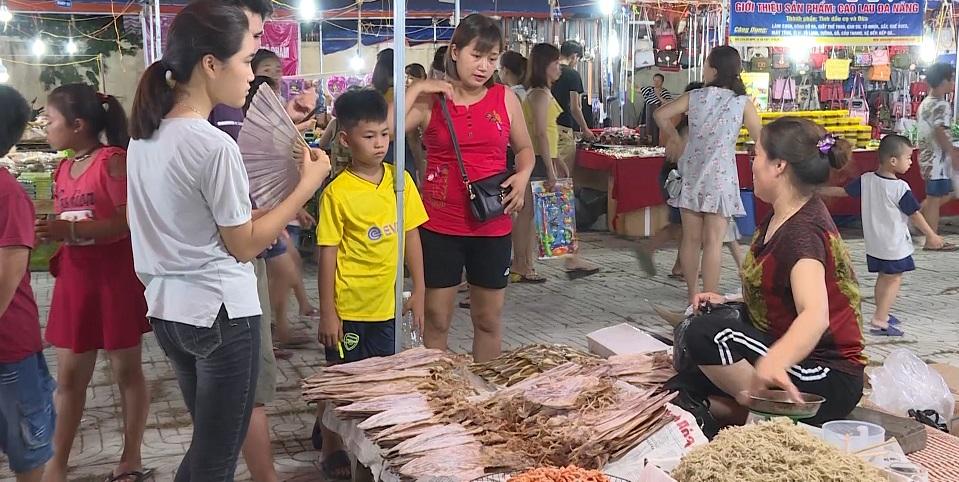 hải sản khô tại chợ đêm sầm sơn