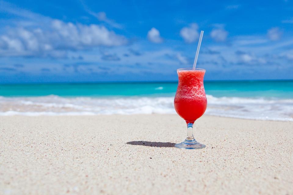 bãi biển mùa hè