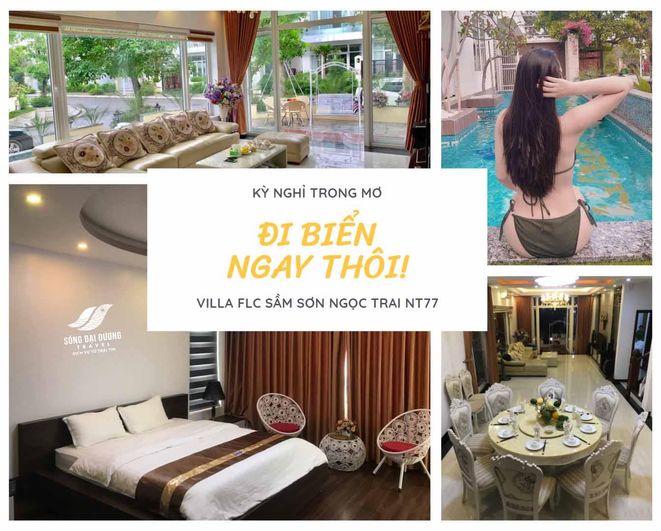 Villa FLC Sầm Sơn 7 phòng ngủ có bể bơi full tiện ích