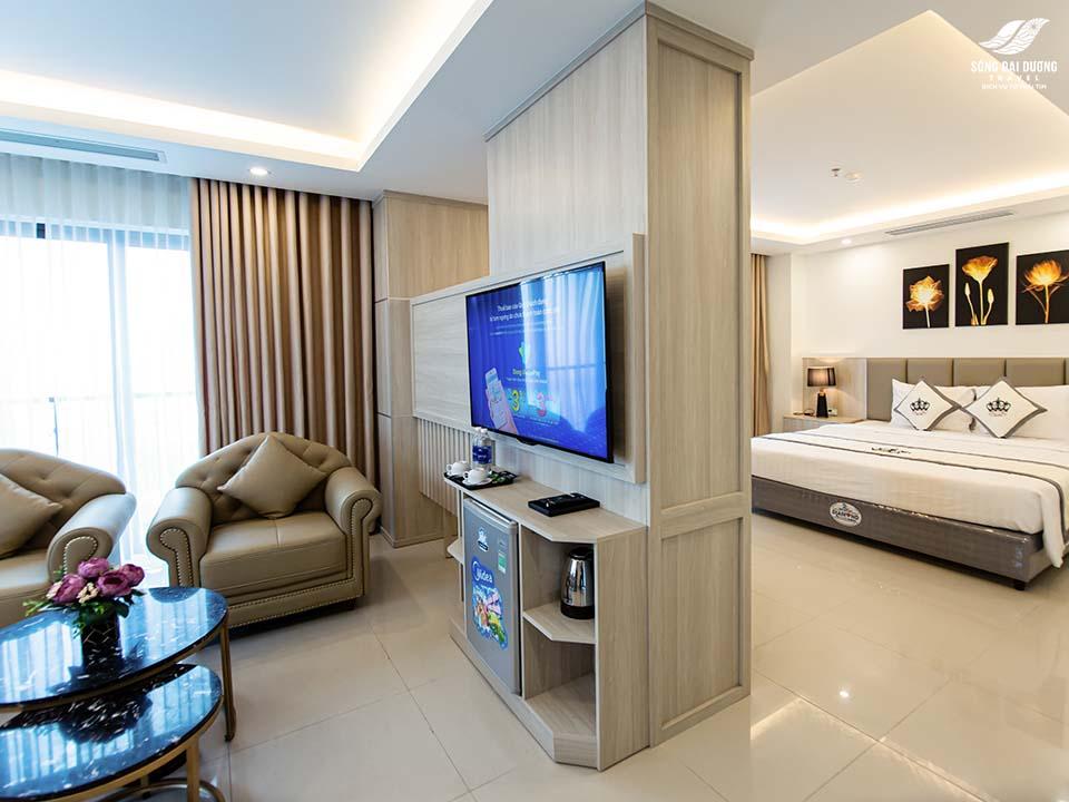 Không gian phòng khách sạn Phúc Anh